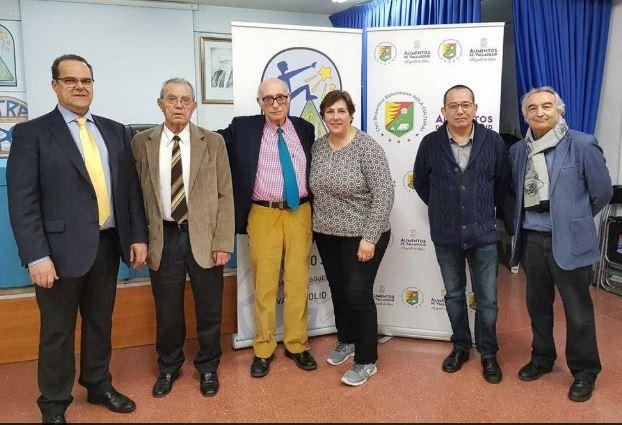 Cayetano Cifuentes y José Luis Álvarez (izquierda y derecha), junto a dirigentes de Cetras. - E.M.