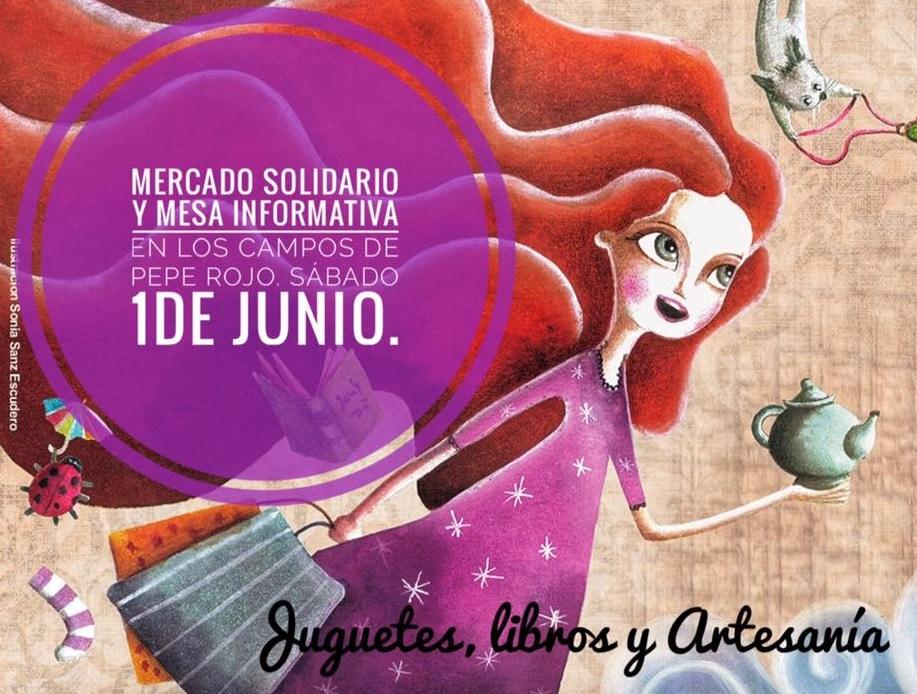 1 de Junio. Mercado solidario y mesa informativa.
