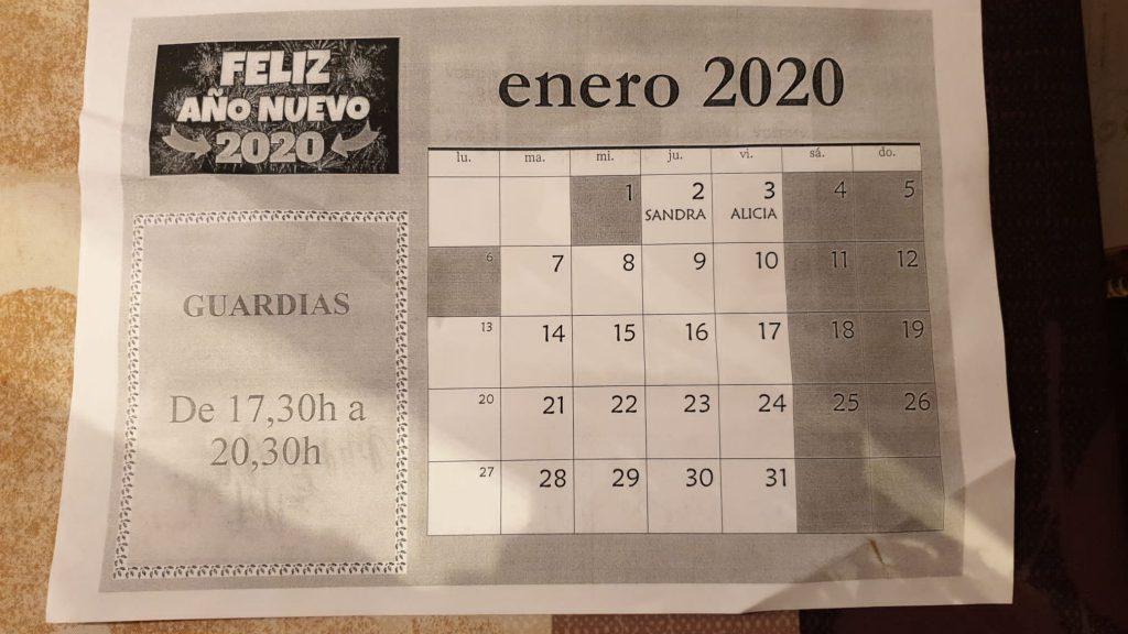 guardias de enero 2020